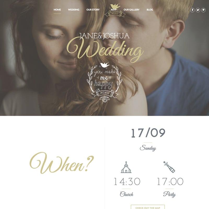 Celebration, tema para bodas en Wordpress
