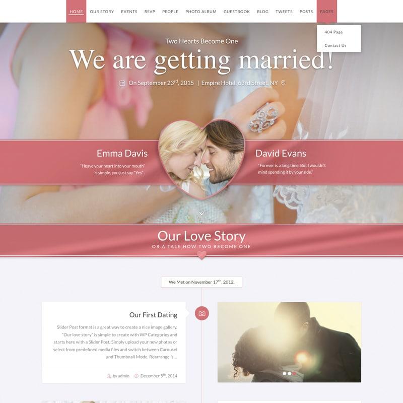 SayYes para bodas con Wordpress