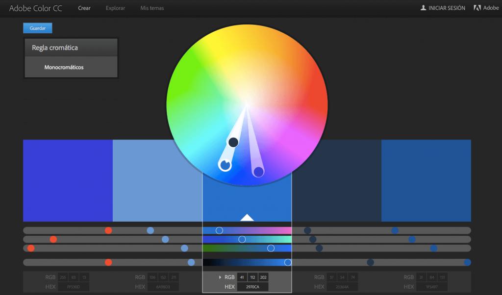 Adobe Color CC generador de esquemas de color