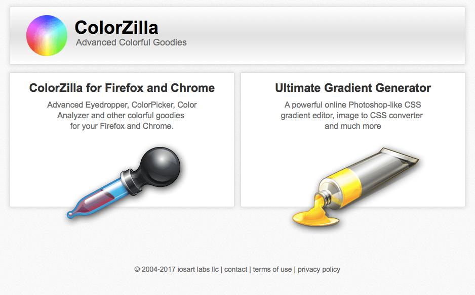 colorzilla extensión para averiguar color en página web