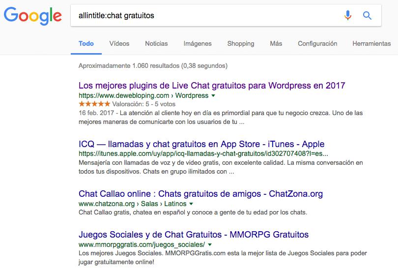 Páginas web con títulos que contienen Chat Gratuitos