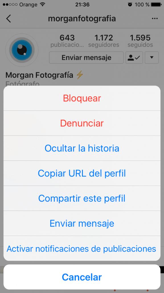 Activación de notificaciones de publicaciones en Instagram