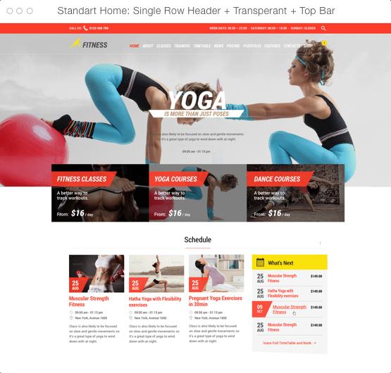 Tema Gym & Fitness para gimnasios